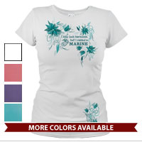 _T-Shirt (Ladies): I may look harmless... -floral