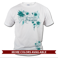_T-Shirt (Unisex): I may look harmless... -floral