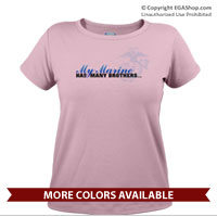 _T-Shirt (Ladies): My Marine has many brothers...