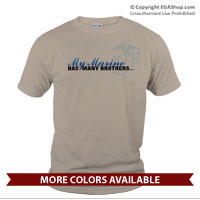 _T-Shirt (Unisex): My Marine has many brothers...