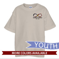 _T-Shirt (Youth): Infinity, Semper Fidelis American Flag