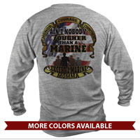 _Long Sleeve Shirt (Unisex): Tough Marine Momma