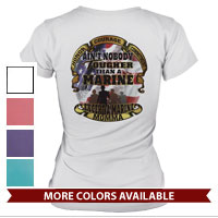 _T-Shirt (Ladies): Tough Marine Momma