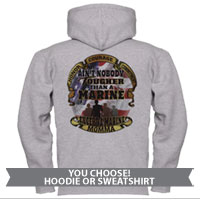 _Hoodie or Sweatshirt: Tough Marine Momma