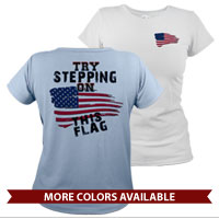_T-Shirt (Ladies): Step on This