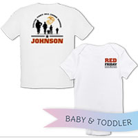 _T-Shirt/Onesie (Toddler/Baby): Red Friday with Name