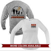 _Long Sleeve Shirt (Unisex): Red Friday with Name
