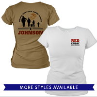 _T-Shirt (Ladies): Red Friday with Name