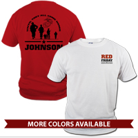_T-Shirt (Unisex): Red Friday with Name