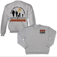 _Hoodie or Sweatshirt: Red Friday with Name