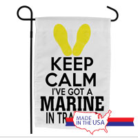 Garden Flag: KEEP CALM, Marine in Training