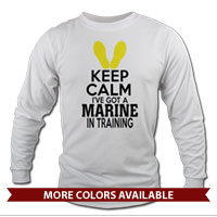 _Long Sleeve Shirt (Unisex): KEEP CALM, Marine in Training