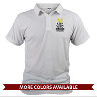 _Polo: KEEP CALM, Marine in Training (Unisex)
