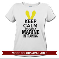 _T-Shirt (Ladies): KEEP CALM, Marine in Training