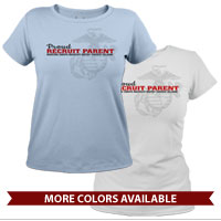 _T-Shirt (Ladies): Proud Recruit Parent