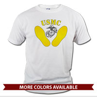 _T-Shirt (Unisex): Yellow Footprints, EGA