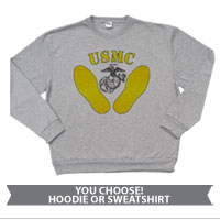 _Sweatshirt or Hoodie: Yellow Footprints, EGA