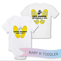 _T-Shirt/Onesie (Toddler/Baby): Enter Recruit, Exit Marine