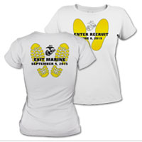 _T-Shirt (Ladies):  Enter Recruit, Exit Marine