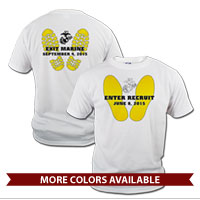 _T-Shirt (Unisex): Enter Recruit, Exit Marine