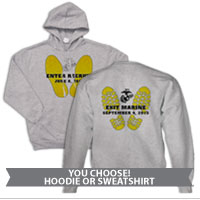_Sweatshirt or Hoodie: Enter Recruit, Exit Marine