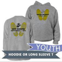 _Youth Hoodie or Long Sleeve Shirt: Enter Recruit, Exit Marine
