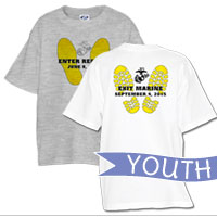 _T-Shirt (Youth): Enter Recruit, Exit Marine