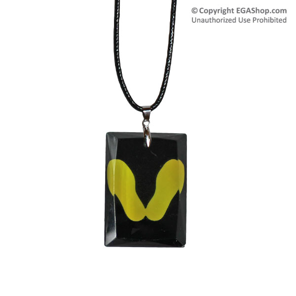 Crystal Pendant Necklace: Yellow Footprints