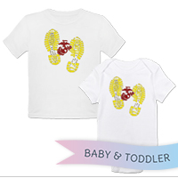 _T-Shirt/Onesie (Toddler/Baby): Bootprints With EGA