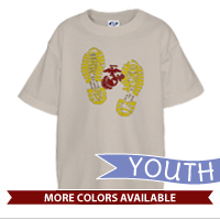 _T-Shirt (Youth): Bootprints With EGA