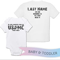 _T-Shirt/Onesie (Toddler/Baby): My Hero Graduated From The USMC