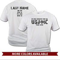 _T-Shirt (Unisex): My Hero Graduated From The USMC