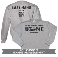 _Hoodie or Sweatshirt: My Hero Graduated from the USMC
