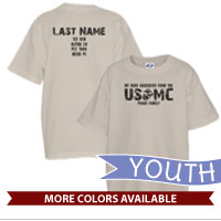 _T-Shirt (Youth): My Hero Graduated from the USMC