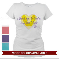 _T-Shirt (Ladies): Half My Heart, Boot Camp