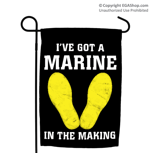 Garden Flag: Marine in the Making (Black, 2nd Btn)