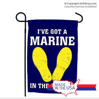 Garden Flag: Marine in the Making (Blue, 3rd Btn)