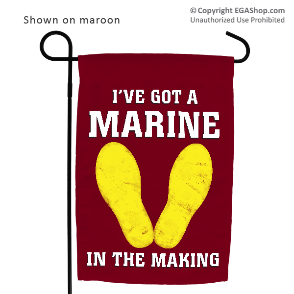 Garden Flag: Marine in the Making (Maroon, 4th Btn)