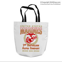 Tote Bag: 1st Recruit Btn (16x16)
