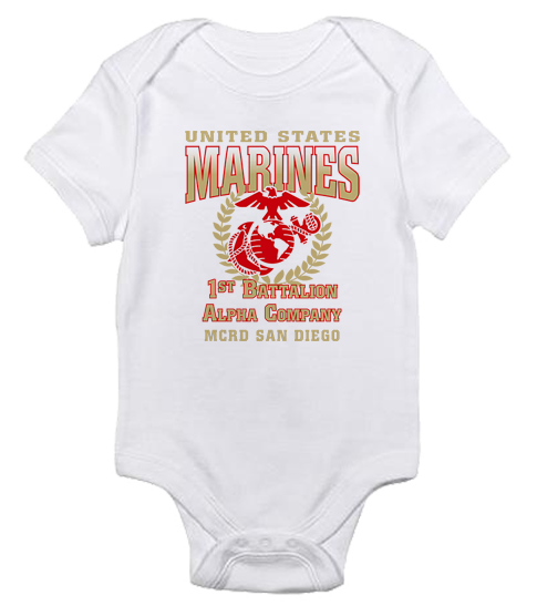 _Customized T-Shirt/Onesie (Toddler/Baby): 1st Recruit Btn