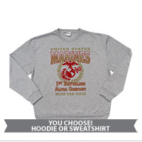 _Customized Sweatshirt or Hoodie: 1st Recruit Btn