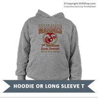 _Customized Youth Hoodie or Long Sleeve Shirt: 1st Recruit Btn
