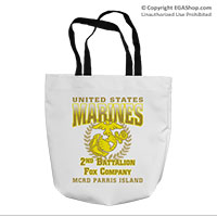 Tote Bag: 2nd Recruit Btn (16x16)
