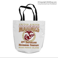 Tote Bag: 4th Recruit Btn (16x16)