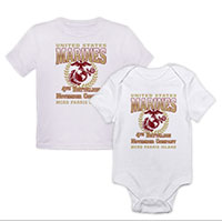 _Customized T-Shirt/Onesie (Toddler/Baby): 4th Recruit Btn