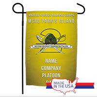 Garden Flag: Recruit, 2nd Btn-Parris Island (Customized)