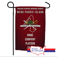 Garden Flag: Recruit, 4th Btn-Parris Island (Customized)