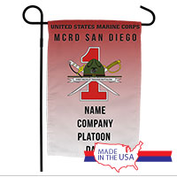 Garden Flag: Recruit, 1st Btn-San Diego (Customized)