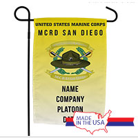 Garden Flag: Recruit, 2nd Btn-San Diego (Customized)