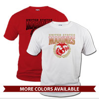 _T-Shirt (Unisex): United States Marines (Red)